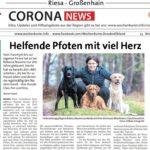 Zeitungsartikel der Helfenden Pfötchen